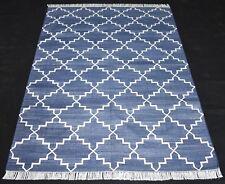 Hand Woven Cotton Kilim Area Rug For Ikat Traditional Home Decor Kilim Rug