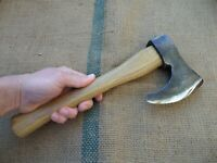 SMALL VINTAGE ANTIQUE AXE WOOD CARVING WOODWORKING HATCHET WROUGHT IRON