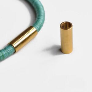 Edelstahl Steck-Magnetverschluss Zylinder ID: Ø 4,5,6  Rosé-Gold-Schwarz-Farben