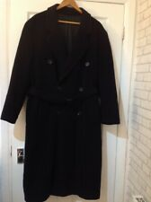 Mens HUGO BOSS Voyager Navy Pure Wool Belted Long Coat,Overcoat,Size 50