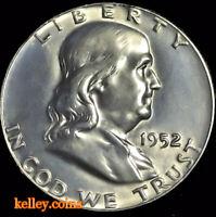 1952-S 50C Franklin Silver Half Dollar BU ~KEY DATE~ Scarce in this Condition!