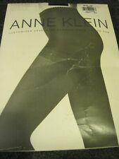 Pantyhose ANNE KLEIN Size A Navy Black Opaque 925 Med Control Top & Leg NIP USA
