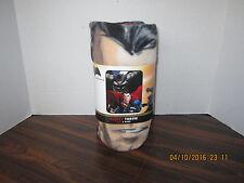 DC BATMAN VS SUPERMAN Micro Raschel Fleece Blanket New & Tags  40 X 50