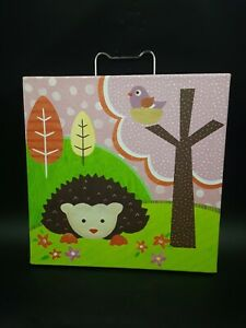 """OOPSY DAISY TOO 10in x 10in """"LOVE & NATURE HEDGEHOG PAL"""" FINE ART FOR KIDS"""