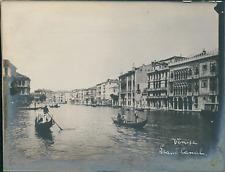 Italie, Venise, Vue du Grand Canal, ca.1910, vintage silver print Vintage silver