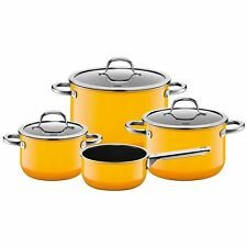 Silit Topf-Set 4-teilig Passion Crazy Yellow Made in Germany induktionsgeeignet