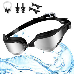 Schwarzer Nasenclip Anti-Fog-UV-Schwimmbrille SRSDE Ohrstöpsel