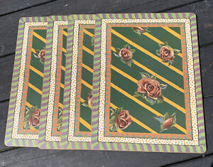 VINTAGE & RARE MacKenzie-Childs Placemats ROSE TORQUAY VICTORIA AND RICHARD CORK