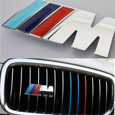 M Tech Color Silver Front Grill Badge Alloy M Sport Emblems Sticker All Series