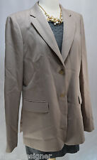 J CREW SUITING NEW $288 100% Smooth WOOL SUIT JACKET BLAZER Khaki Tan SIZE T14