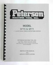 Peterson Model SP70 and SP71 Pressure Tester Manual