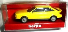 car 1/87 HERPA 021081 AUDI COUPE (B3 FACELIFT) YELLOW 1991 NEW BOX