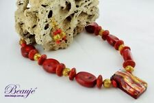 Glass Coral Handcrafted Necklaces & Pendants