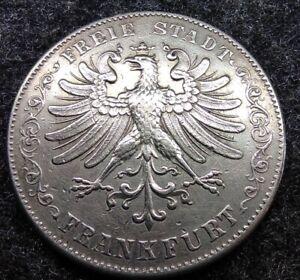 Silber, Frankfurter Doppeltaler, 1845, 3 1/2 Gulden & 2 Thaler, Münze, Coin