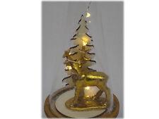 Hirsch in Glas mit LED-Lichterkette Weihnachtsbeleuchtung Weihnachtsdeko Advent