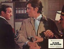 ALAIN DELON LINO VENTURA LE CLAN DES SICILIENS 1969 VINTAGE LOBBY CARD #16