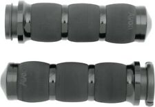 AVON AIR CUSHION HAND GRIPS BLACK ANODIZED 4 HARLEY TOURING FLHX AIR-90-ANO-FLY