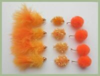 Blob and Egg Trout Flies, 12 pack, Orange, size 10, for fly fishing