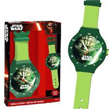 Star Wars Wanduhr Yoda Jumbo Wall Clock 47cm Armbanduhr für die Wand Disney Uhr