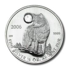 Canada Howling Wolf $1 2006  1/2 Ounce .9999 Fine Silver  BU