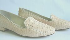 BATA Flat Loafers Closed Toe Eu36 US5,5 Snake Effect Leather Dusty Pink Comfort