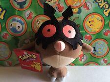 Pokemon Plush  Hoothoot Hasbro 1998 doll Bean Bag stuffed figure Old School Toy