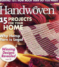 Handwoven magazine may/june 2008 towels dishcloths rug