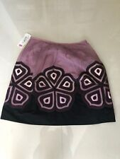 Women's Multi Color Peter Nygard Below Knee Pleated Lined Skirt sz 12