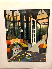 "Fanch Ledan ""Interior With Guitar"" hand-pulled serigraph on paper"