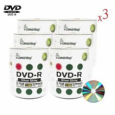 1800 Smartbuy DVD-R DVDR 16X Blank Record Disc With Shiny Silver Top Media Disc