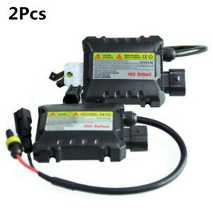 2Pcs 12V 55W Digital Slim HID Xenon Ballast Replacement Kit For Car  Light Bulbs
