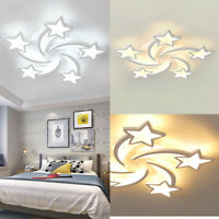 LED Ceiling Light Pendant Lamp Living Room Dimmable Home Fixture +Remote Control