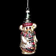 Retired 1997 Boyds Bears Limited Edition Olaf Glass Christmas Snowman 8701/12000