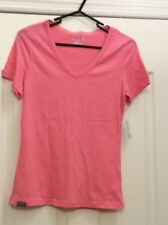Jansport Pink Tee W/Satiny Trim At V-Neck. Small. Gently Worn.