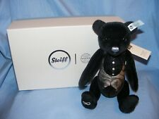 Steiff Baar Black Wedding Groom Swarovski New Present Gift Teddy Bear 034220