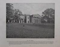 1896 London Stampa + Testo Mulino Collina Scuola Middlesex