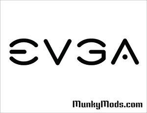 EVGA Logo Computer PC Case Window Applique Vinyl Decal (Color Choices)