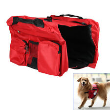 New Pet Dog Puppy Bag Backpack Saddle Harness Pack Travel Camping Outdoors Red