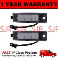 2X FOR TOYOTA HIGHLANDER LANDCRUISER 2007- 18 WHITE LED NUMBER PLATE LIGHT LAMPS