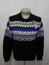 Polo Ralph Lauren Men's Cashmere Wool Sweater Black Crew Neck Nordic Fair L $265