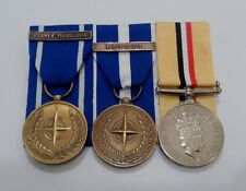IFOR Former Yugoslavia, KFOR Kosovo, Iraq Op Telic Full Size, Mounted Medals