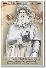 "Leonardo Da Vinci - ""We Must Do"" - NEW Classroom Science Motivational POSTER"