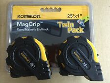 Komelon MagGrip 25 ft Tape Measure with Magnetic End Hook Twin Pack 2