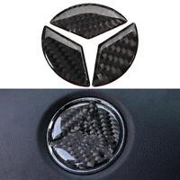 45mm Carbon Fiber Steering Wheel Emblem Badge Decal Sticker For Mercedes Benz
