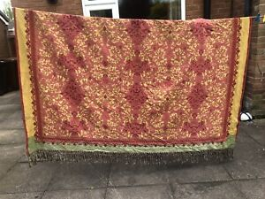 Extra Large Tapestry fringed edge throw/bedspread Bohemian Rustic - Super King