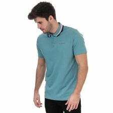 Men's Ted Baker Kabby Press Stud Golf Polo Shirt in Blue