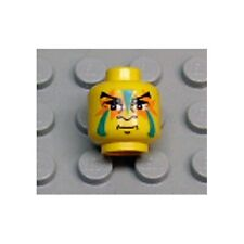 LEGO - Minifigure, Head Face Paint with Green and Orange Painted Face - Yellow