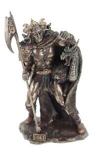 Loki  nordischer Gott bronziert Veronese Figur Odin nordische Götter Odin Freya