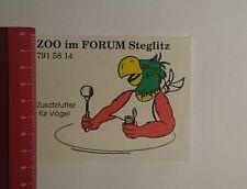 Pegatina/sticker: zoo en el foro Steglitz adicional a alimentos para aves (25111653)
