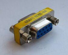 DB9 DSUB 9-pin Adapter RS-232 Gender Coupler Female to Female (D16)